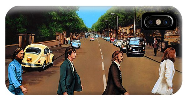 Rock And Roll Art iPhone Case - The Beatles Abbey Road by Paul Meijering