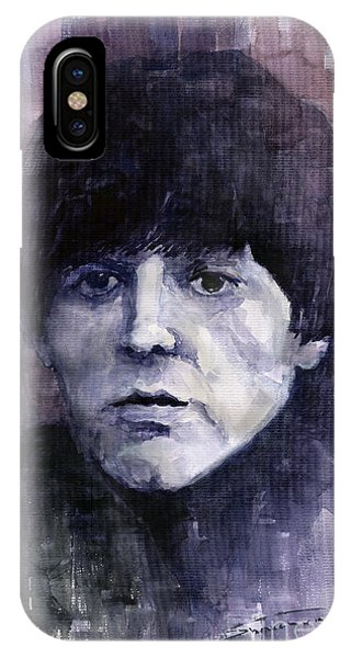 Portret iPhone Case - The Beatles Paul Mccartney by Yuriy Shevchuk