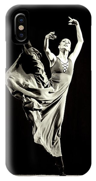 IPhone Case featuring the photograph The Beautiful Ballerina Dancing In Long Dress by Dimitar Hristov