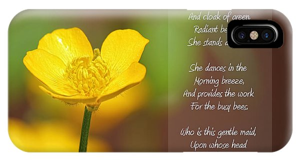 The Beautiful Buttercup Poem IPhone Case