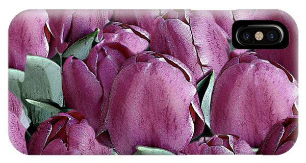 The Beauty And Depth Of A Bed Of Tulips IPhone Case
