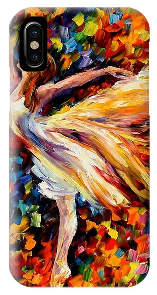 Afremov iPhone X Case - The Beauty Of Dance by Leonid Afremov