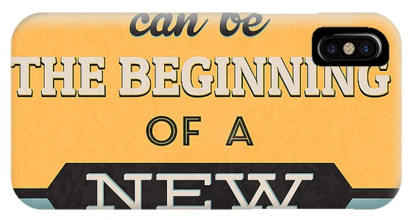 Witty iPhone Case - The Beginning Of A New Life by Naxart Studio