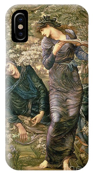 Wizard iPhone X / XS Case - The Beguiling Of Merlin by Sir Edward Burne-Jones