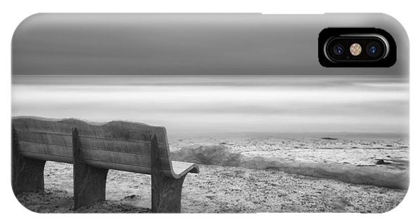 Black And White Art iPhone Case - The Bench by Larry Marshall