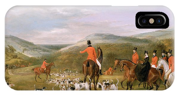 Rural Scenes iPhone X / XS Case - The Berkeley Hunt by Francis Calcraft Turner