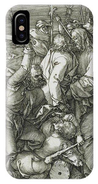 Albrecht Durer iPhone Case - The Betrayal Of Christ by Albrecht Durer