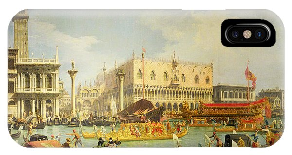 Regatta iPhone Case - The Betrothal Of The Venetian Doge To The Adriatic Sea by Canaletto