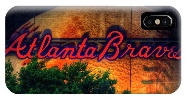 The Big Ball Atlanta Braves Baseball Signage Art IPhone Case