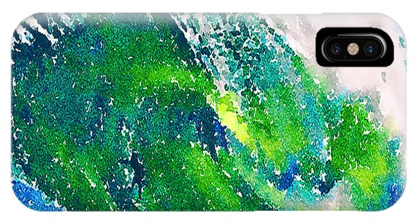 IPhone Case featuring the painting The Big Green by Angela Treat Lyon