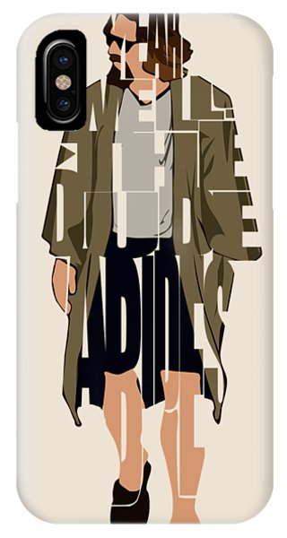 The iPhone Case - The Big Lebowski Inspired The Dude Typography Artwork by Inspirowl Design