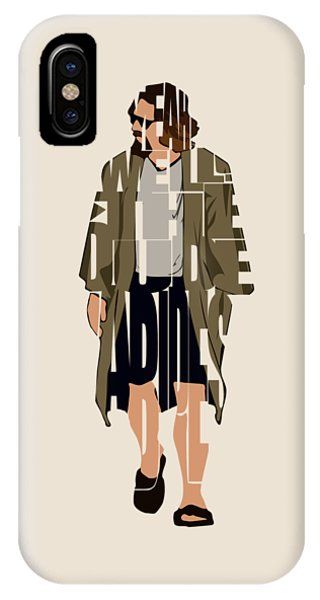 Vector iPhone Case - The Big Lebowski Inspired The Dude Typography Artwork by Inspirowl Design