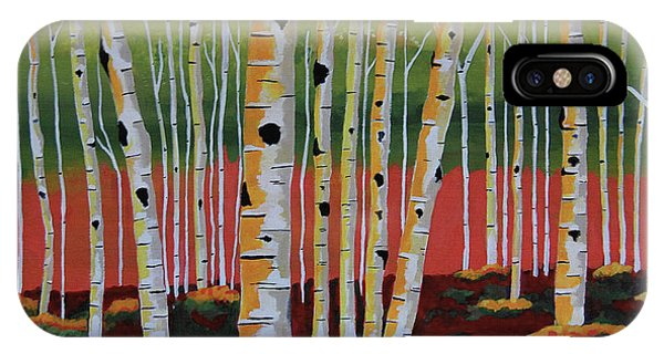 The Birch Forest - Landscape Painting IPhone Case