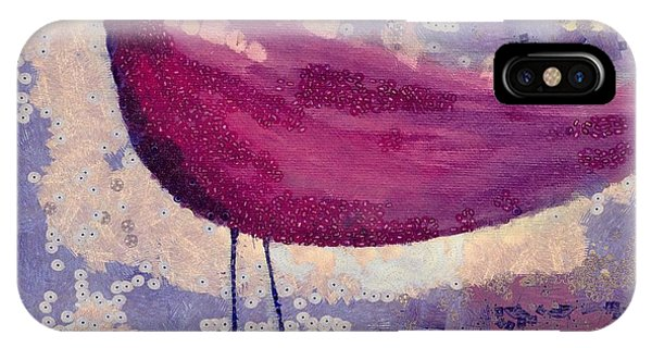 Violet iPhone Case - The Bird - K0912b by Variance Collections