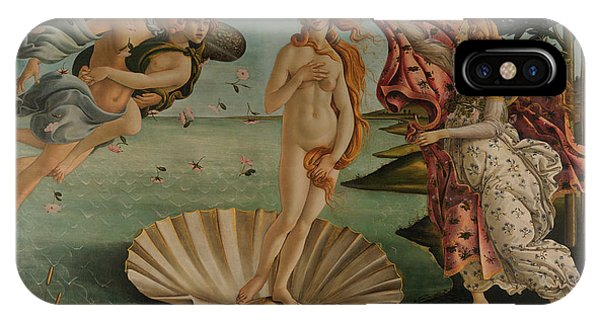 Botticelli iPhone Case - The Birth Of Venus, Original by Sandro Botticelli