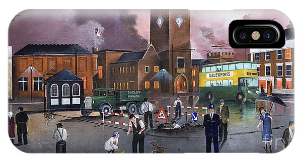 Dudley Trolley Bus Terminus 1950's IPhone Case