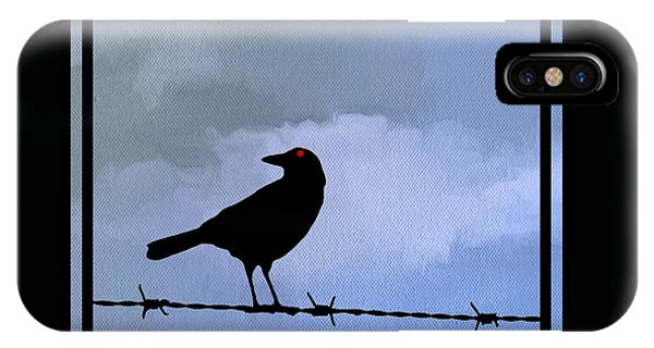 The Black Crow Knows Blue IPhone Case