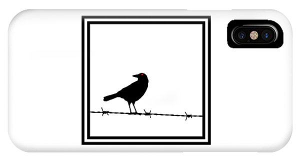 The Black Crow Knows T-shirt IPhone Case