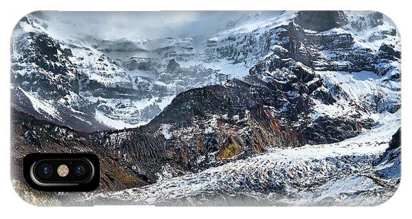 The Black Snowdrift Glacier IPhone Case