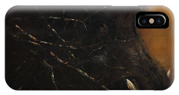 The Black Wildboar IPhone Case