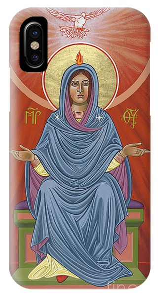 IPhone Case featuring the painting The Blessed Virgin Mary, Mother Of The Church by William Hart McNichols