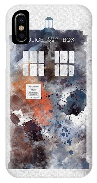 Doctor iPhone Case - The Blue Box by Rebecca Jenkins