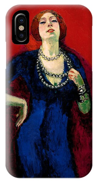 Fauvism iPhone Case - The Blue Gown by Kees van Dongen