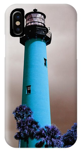 The Blue Lighthouse IPhone Case