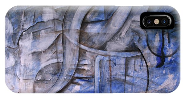 IPhone Case featuring the painting The Blue Machine by Keith A Link