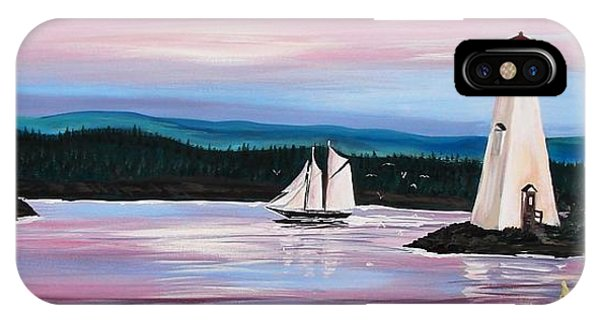 The Blue Nose II At Baddeck Nova Scotia IPhone Case