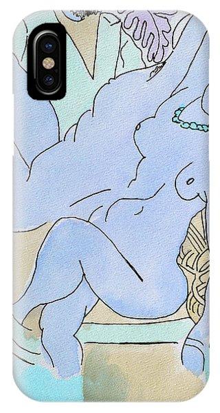 The Blue Nude IPhone Case
