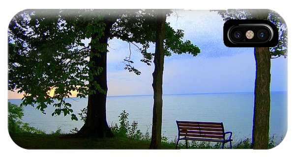 IPhone Case featuring the photograph The Bluffs Bench by Richard Ricci