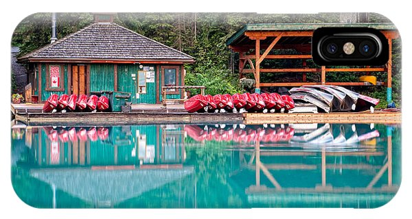 The Boat House At Emerald Lake In Yoho National Park IPhone Case