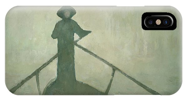 IPhone Case featuring the painting The Boatman by Steve Mitchell
