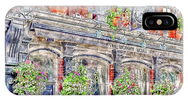 IPhone Case featuring the digital art The Bonny Boat An Historic English Pub by Anthony Murphy