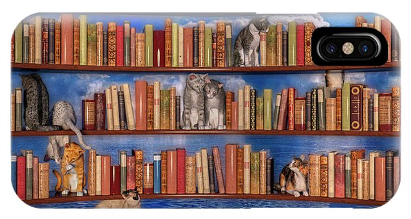 Shelves iPhone Case - The Book Club by Betsy Knapp