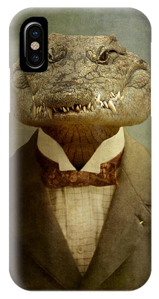 Reptiles iPhone Case - The Boss by Martine Roch