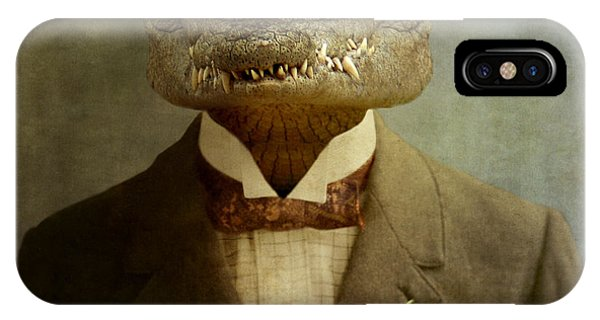 Crocodile iPhone Case - The Boss by Martine Roch