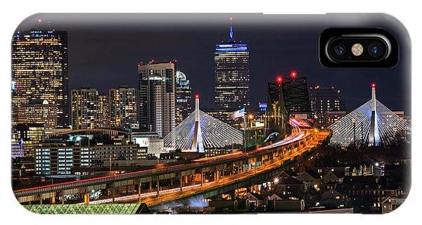 The Boston Skyline Boston Ma Full Zakim IPhone Case