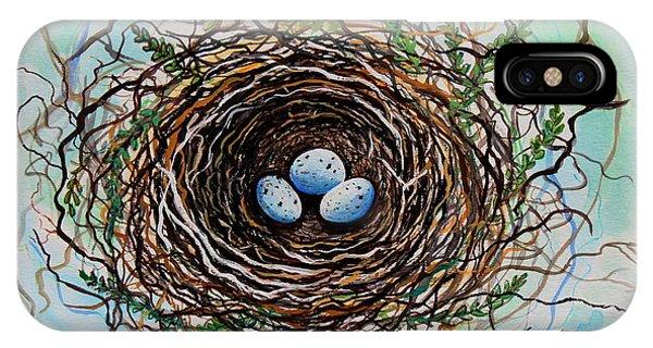 The Botanical Bird Nest IPhone Case