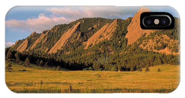 Boulder iPhone Case - The Boulder Flatirons by Jerry McElroy