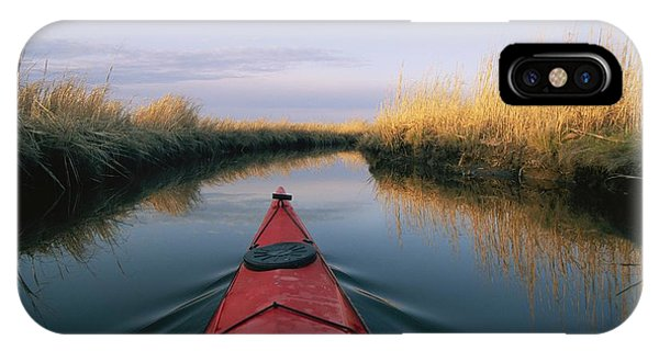 The Bow Of A Kayak Points The Way IPhone Case