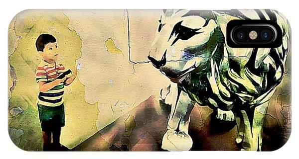 The Boy And The Lion Graffiti Creator,street-art Graffiti,street-art,graffiti Art Street,banksy Art, IPhone Case