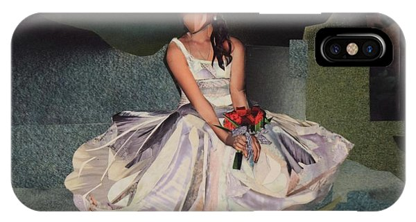 She iPhone Case - The Bride by Roxana Rojas-Luzon