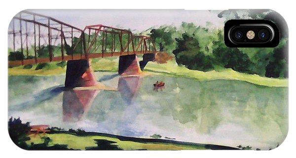 The Bridge At Ft. Benton IPhone Case