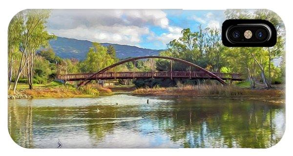 The Bridge At Vasona Lake Digital Art IPhone Case