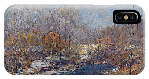 The Bridge  Garfield Park  By William J  Forsyth IPhone Case