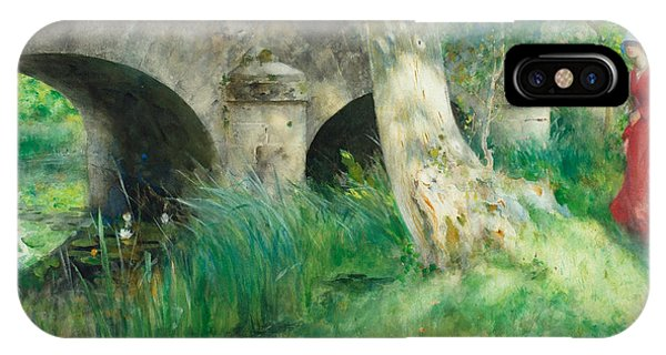 Art And Craft iPhone Case - The Bridge In Grez by Carl Larsson