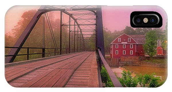 The Bridge To War Eagle Mill - Arkansas - Historic - Sunrise IPhone Case