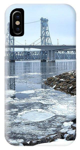 The Bridges Of Bath In Winter IPhone Case